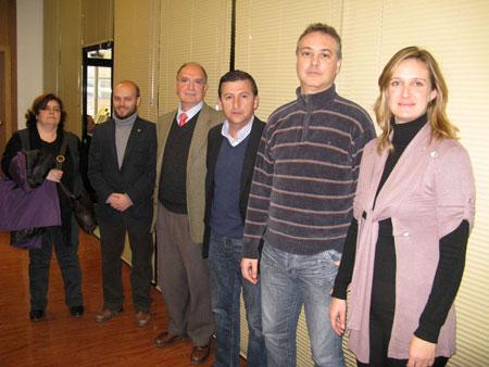 Inmaculada García, José Antonio Bautista, Antonio Rodríguez, Javier Salguero, Manuel Ramírez e Isabel Gómez