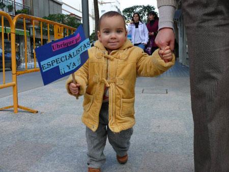 Diego en Manifestación
