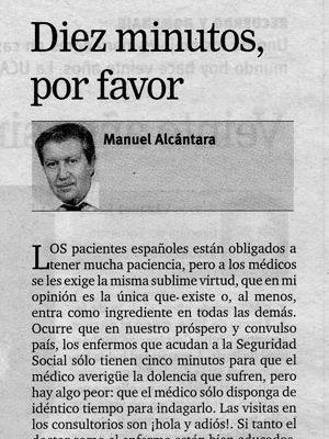 Artículo de Manuel Alcántara