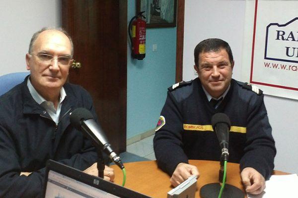 A. Rodríguez y P. Moreno en Radio Ubrique