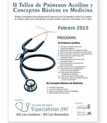 II Taller de Primeros Auxilios y Conceptos Básicos en Medicina