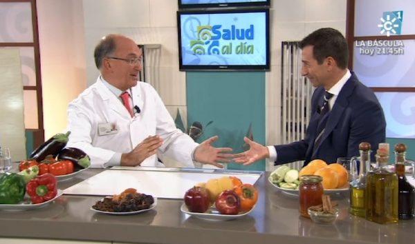 El Dr. Rodríguez Carrión junto a Roberto Sánchez Benítez en Salud al Día