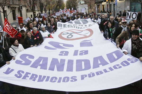 Manifestación contra los recortes sanitarios