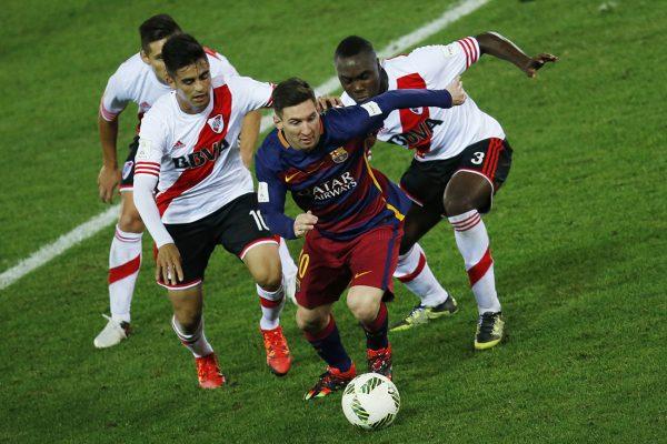 Messi tras padecer un cólico nefrítico