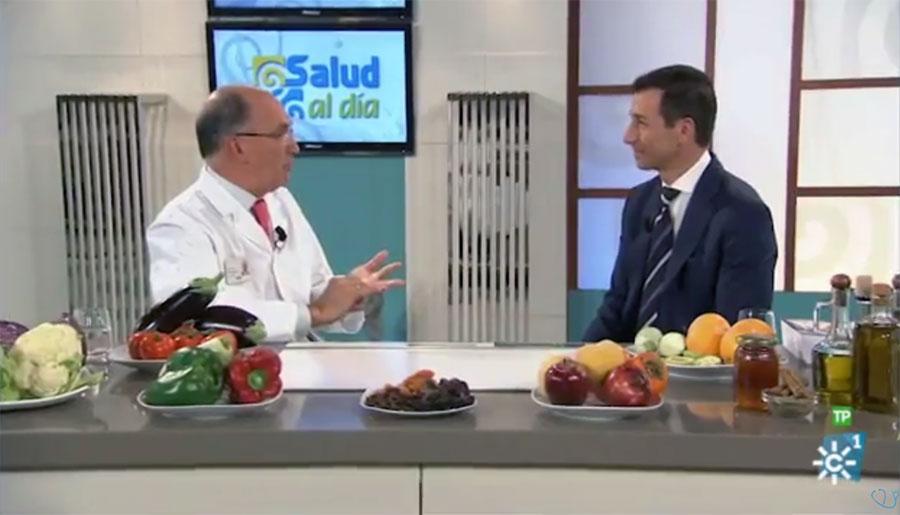 Momento de la entrevista en Canal Sur TV