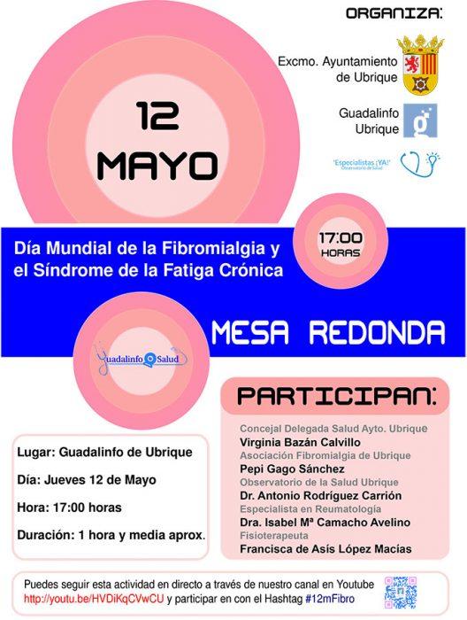 Cartel Mesa Redonda sobre Fibromialgia