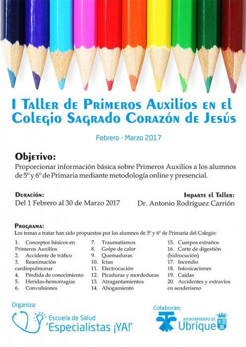 I Taller de Primeros Auxilios en el Colegio Sagrado Corazón de Jesús de Ubrique