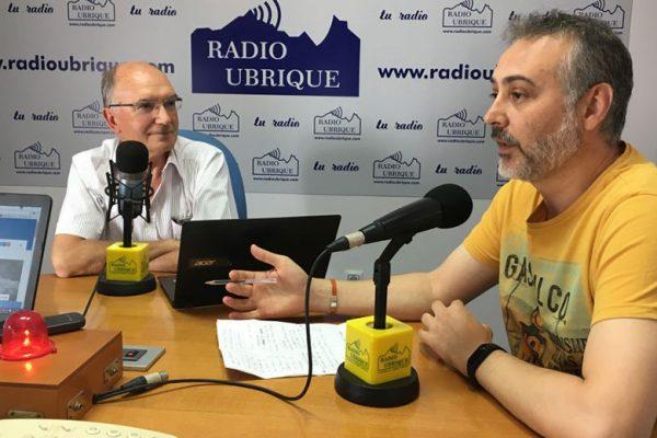Antonio Rodríguez y Manuel Ramírez en Radio Ubrique