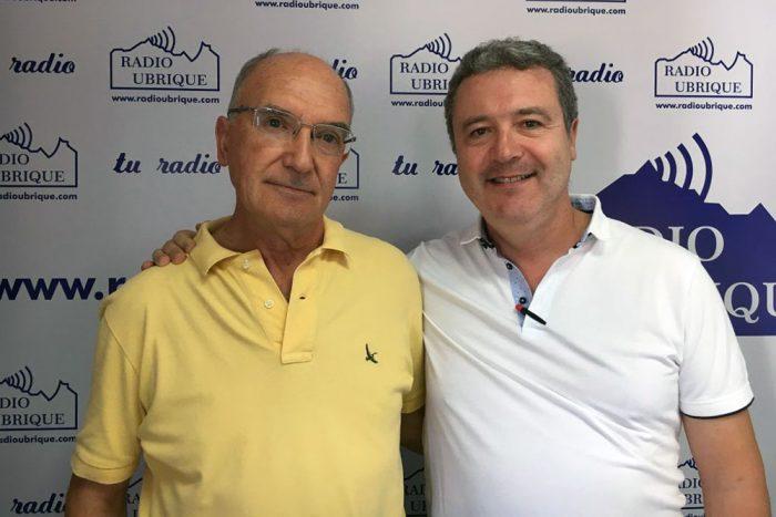 Antonio Rodríguez y David Bohórquez en Radio Ubrique