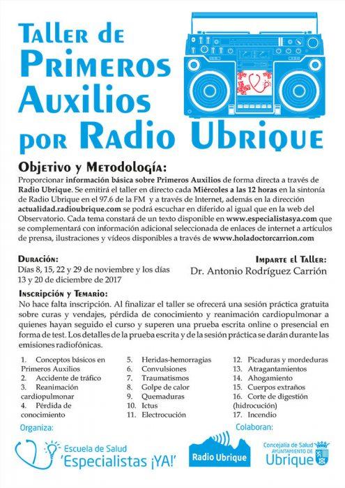 Taller de Primeros Auxilios por Radio Ubrique