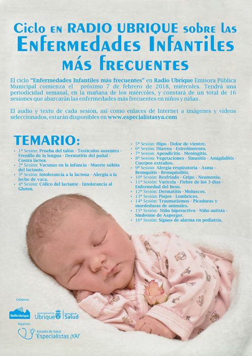 Ciclo sobre Enfermedades Infantiles más frecuentes en Radio Ubrique