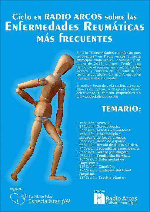"""Ciclo sobre """"Enfermedades reumáticas más frecuentes"""" en Radio Arcos"""
