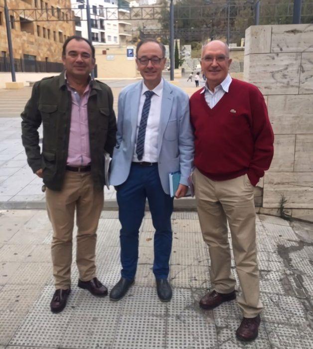 Jesús Pardo, Antonio Ortega y Antonio R. Carrión
