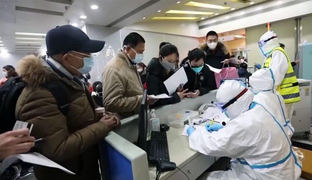 Registro en un hospital en China