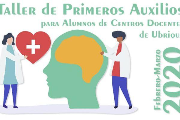 Cartel Taller de Primeros Auxilios para alumnos de centros docentes
