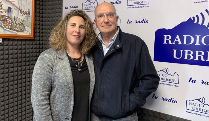 Virginia Bazán y Antonio Rodríguez en Radio Ubrique