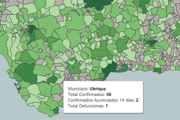 Datos covid-19 en Ubrique