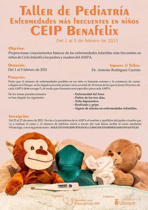 Cartel Taller de pediatría