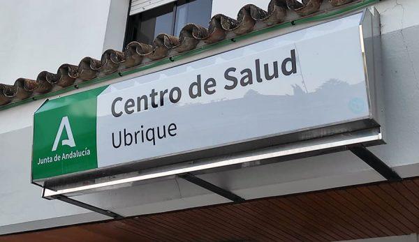 Rótulo Centro de Salud de Ubrique